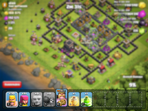 Try spending less time watching your attack and more time on your troop bar.